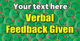 Personalised School Stickers | Verbal Feedback Given! Design Custom Standard Stickers