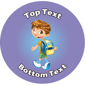 Personalised School Stickers | Walk to School Week - Boy! Design Custom Standard and Scented Stickers