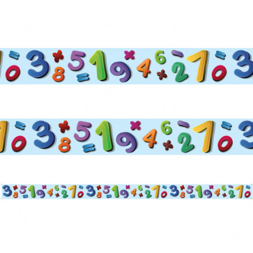 Classroom Borders / Trimmers | Number Jumble Borders for Class Displays