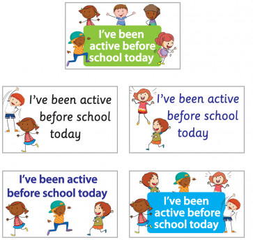 School Stickers | I've been active before school today Stickers