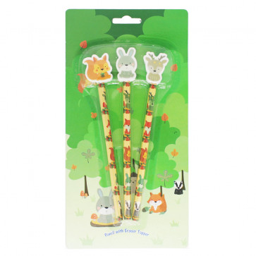 Woodland Animal Presents | Woodland Friends Topper Pencils Gift Pack