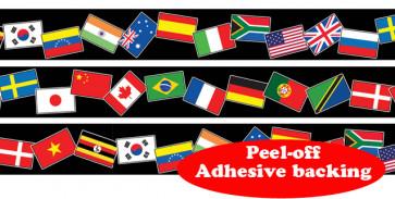 Roll Border | World Flag Self-Adhesive Border Roll
