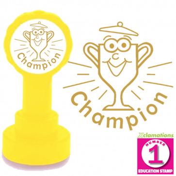 Champion Teacher Stamp - Gold Ink