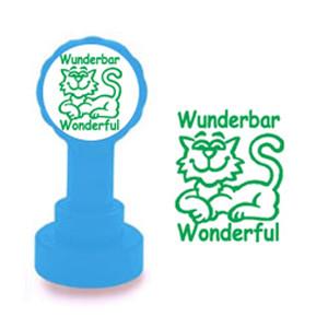 School Stamp | Wunderbar / Wonderful German Self-Inking Teacher Stamp - No ink pad required.