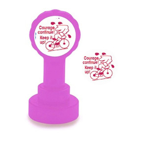 Self-inking Teacher stamper | Courage Continue ! / Keep it up! French Marking Stamp