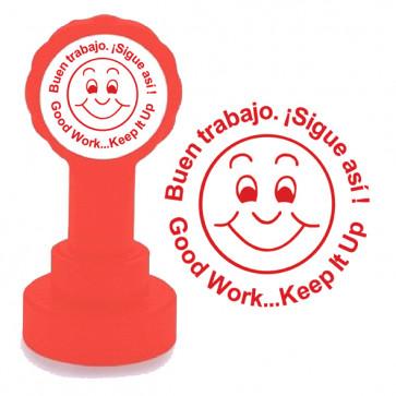 Teacher Stamps | Buen trabajo. ¡Sigue asi ! / Good Work... Keep It Up Spanish Stamps