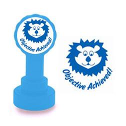 Self-inking Teacher stamper | Objective Achieved! Marking Stamp