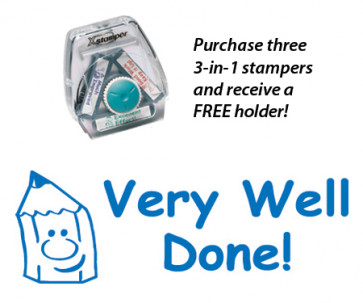 Very Well Done! Teacher 3-in-1 Stamper Set