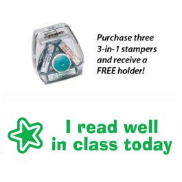 3-in-1 Stamper | I read well in class today stamp block