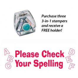 3-in-1 Stamper | Please Check Your Spelling