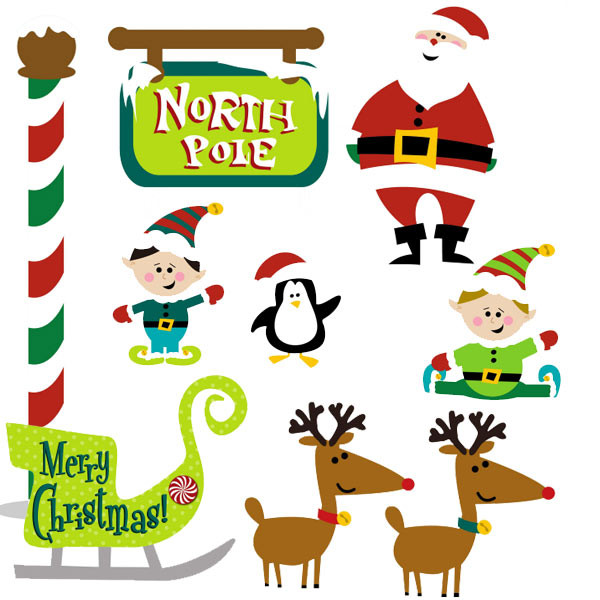 North Pole Father Christmas Scene