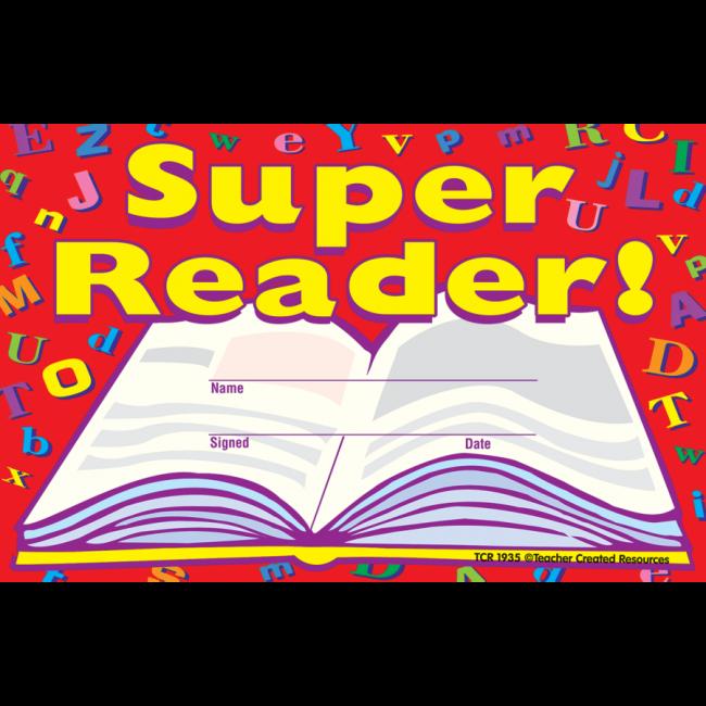 Kids Certificates Super Reader School Certificates Free Delivery