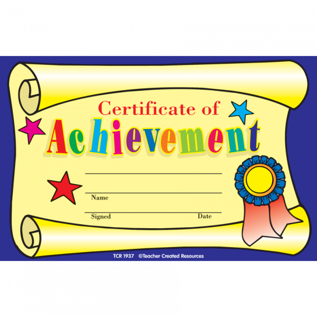 kids certificates certificate of achievement awards free delivery