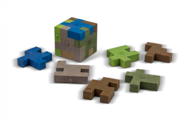 Novelty Camouflage Block Puzzle Erasers Pack of 2 Great for Party Bags