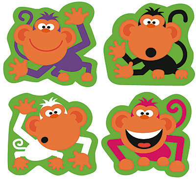 Name Badges Monkey Mischief Name Tags Or Resource Label Stickers Free Delivery
