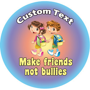Personalised Stickers For Kids Make Friends Not Bullies
