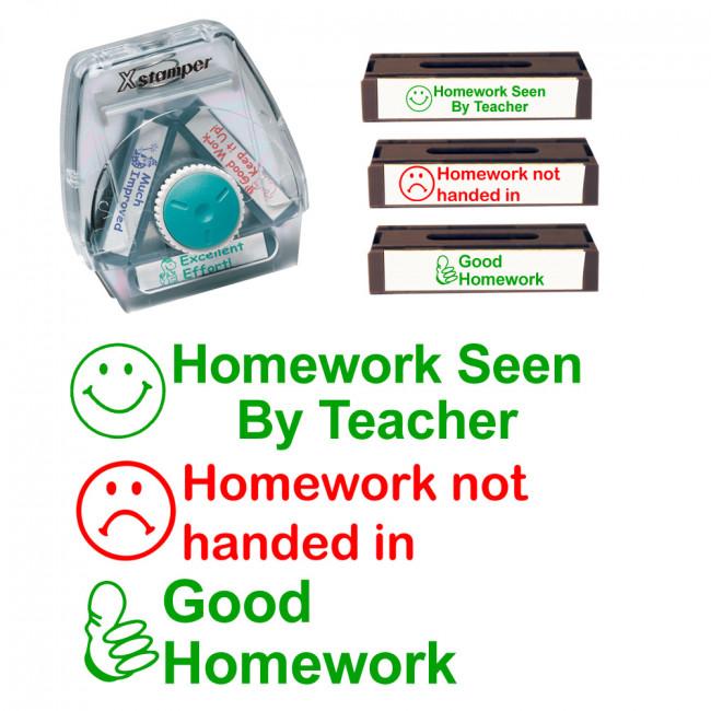 Teacher Stamps Homework Not Handed In Homework Seen By
