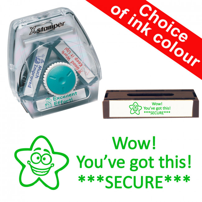 Wow! You've got this! SECURE 3-in-1 Xstamper Twist Stamp