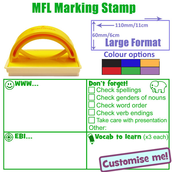 Language marking mfl checklist stamp option 1