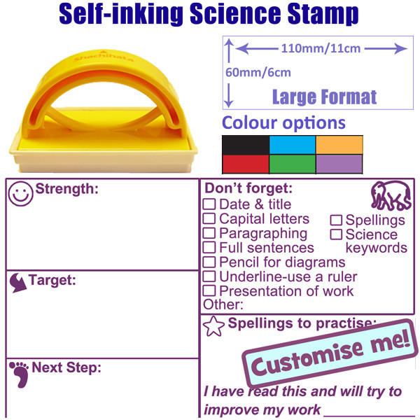 Teacher Stamp Science Strength Target Next Step Literacy
