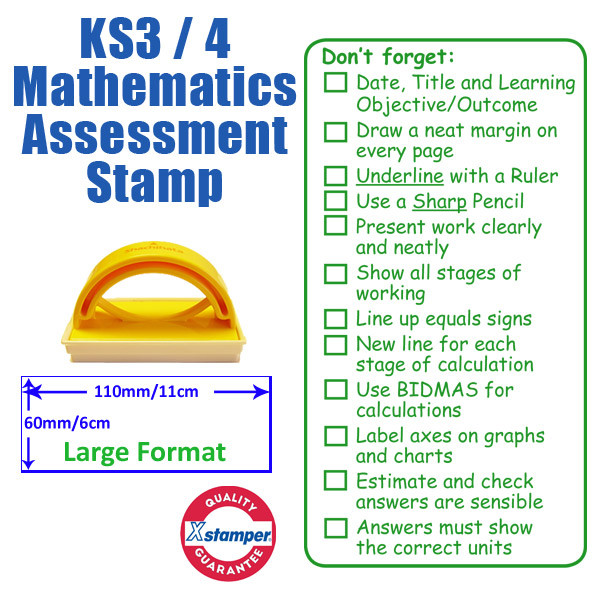 Teacher Stamp Ks3 Ks4 Mathematics Assessment Checklist