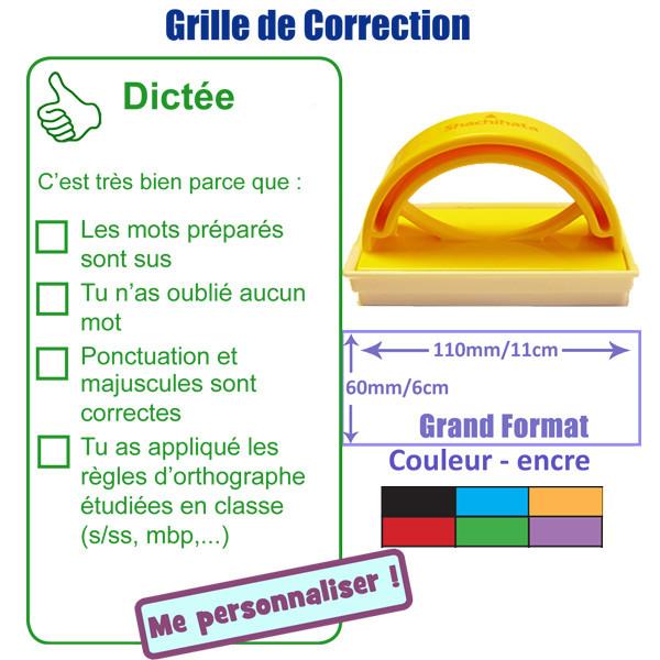 Tampon auto encreur grille de correction dict e ponctuation majuscules orthographe grand - Grille d auto evaluation ...