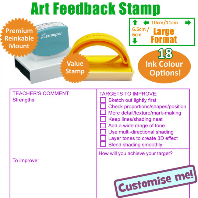 Teacher Stamps Art Feedback Marking Stamp Ks2 3 Large