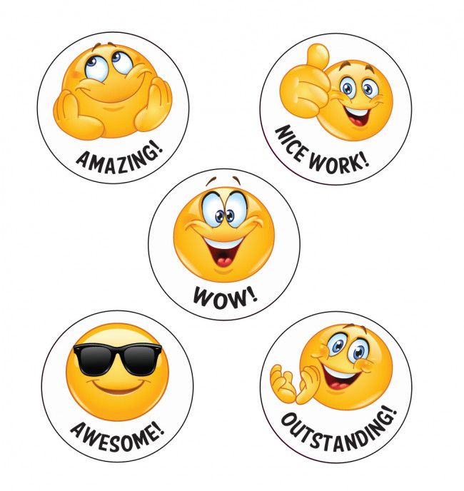 School Stickers Wow Emoji Reward Stickers Free Delivery