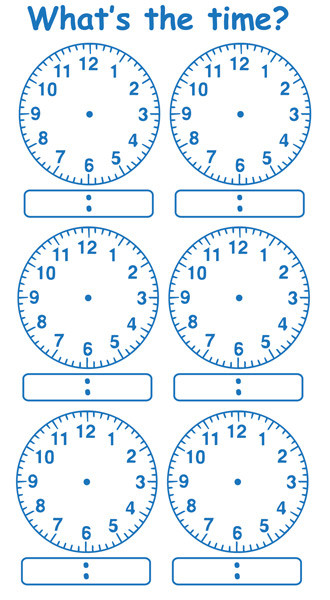School Stamp Telling The Time Multiple Clock Stamp Large