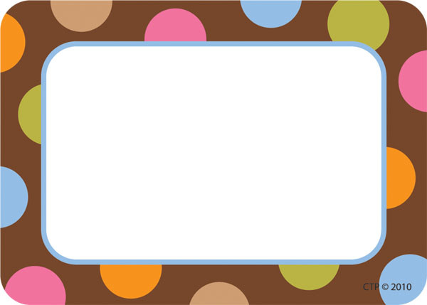 name label stickers dots on chocolate design badges free delivery