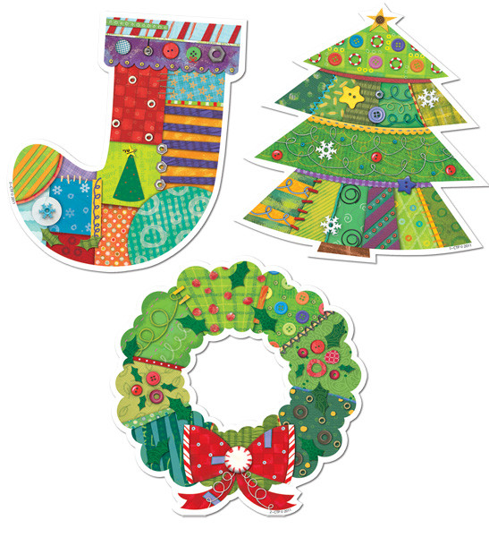 classroom display christmas cut out decorations jumbo