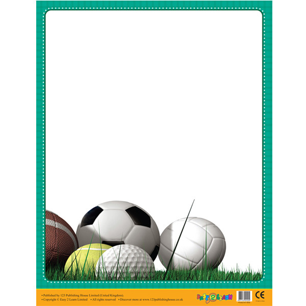 Design Classroom Posters ~ Posters sports border wipe off poster for notices