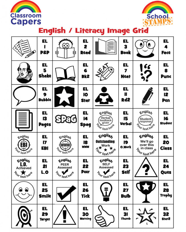 custom stamps english subject personalised stamps for teachers