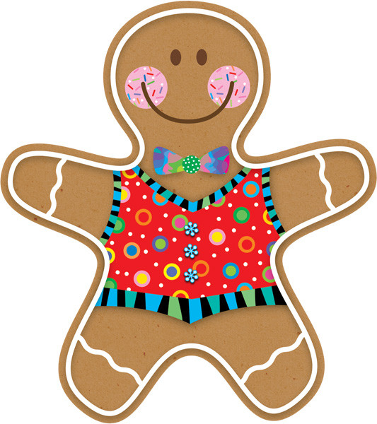 classroom display cut outs gingerbread man picture cards
