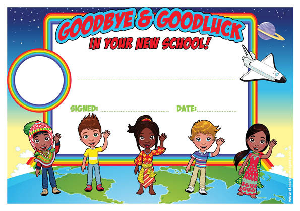 Personalised Certificates For Schools Goodbye Amp Goodluck