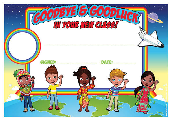 Personalised certificates awards for schools goodbye and goodluck in your new class certificate
