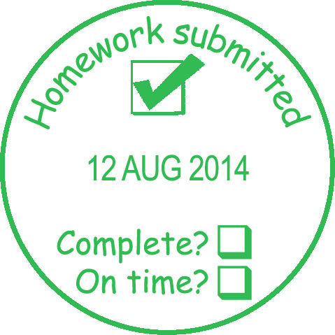 School Stamps Record Homework Complete On Time Date