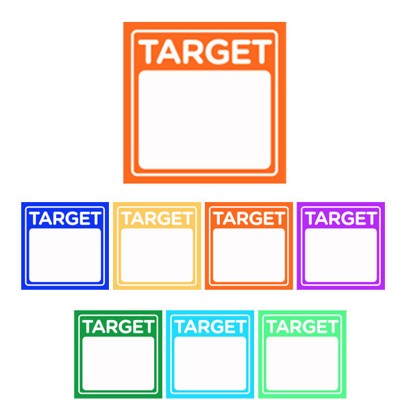 Teacher marking stickers target stickers for personalising with student next steps goals or objectives
