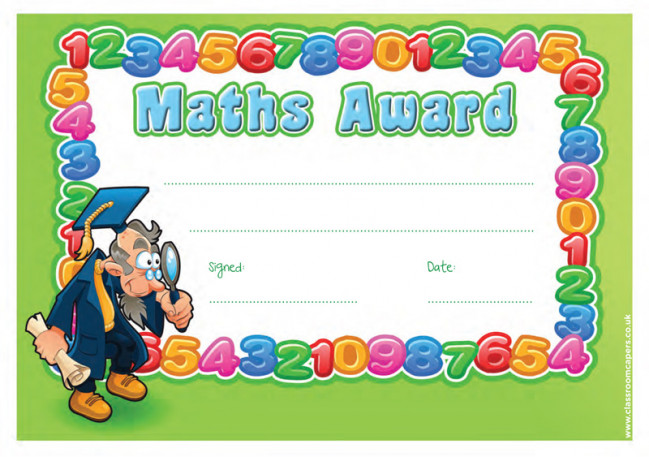 school certificate maths award 30 numbers design certificates for