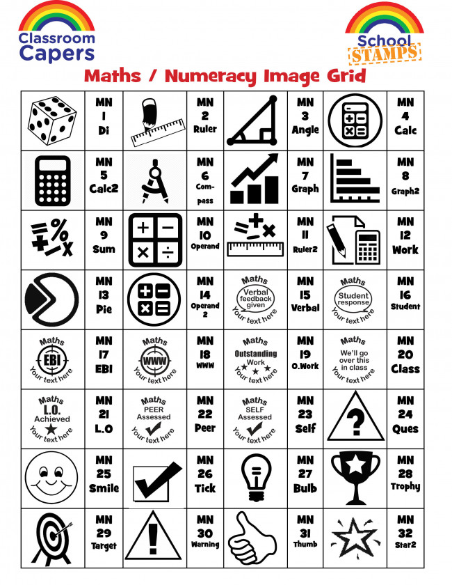 Custom Stamps | Maths Subject Personalised Stamps for Teachers. Free ...