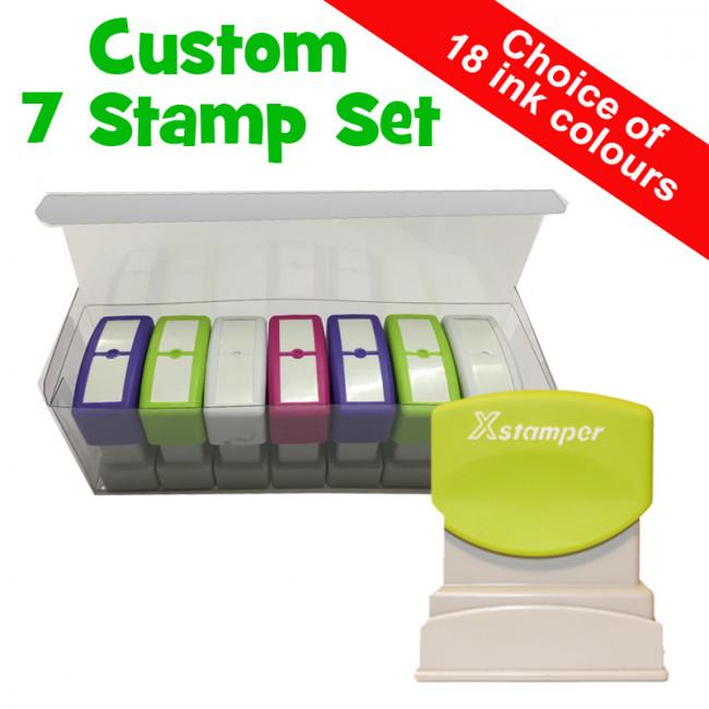 custom stamps teacher stamps box set quality large xstamper self