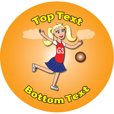 Netball personalised teacher stickers standard scented stickers