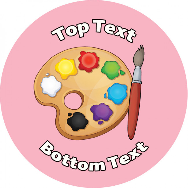 Custom School Stickers Paint Palette Art Design Teacher