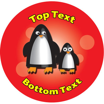 Penguin pals personalised teacher stickers standard scented stickers