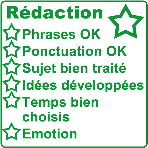 School Stamps R 233 Daction French Marking Checklist 5x5cm