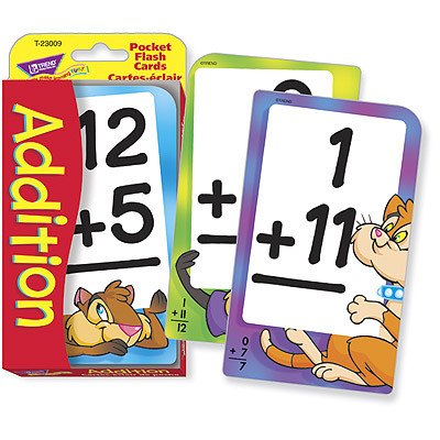 Educational Games Addition Pocket Flash Cards Free Delivery