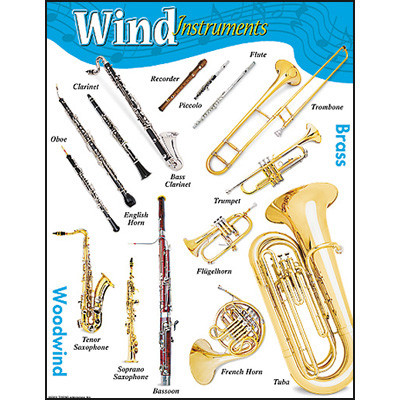 School Posters Wind Instruments Music Poster Free Delivery