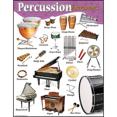 School Posters Percussion Instruments Music Poster