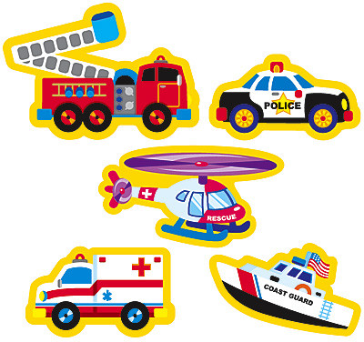 Kids Stickers Rescue Vehicles Stickers Free Delivery Uk