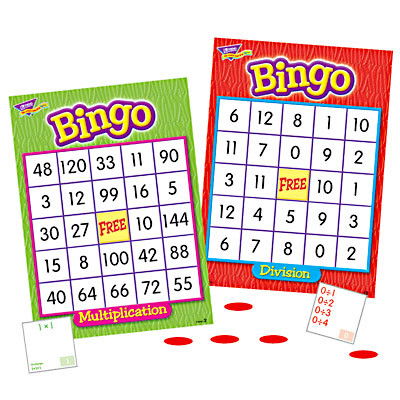 School Games Multiplication And Division Maths Bingo For 3 36